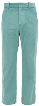 Sies Marjan Toby Cotton Blend Corduroy Straight Leg Trousers - Mens - Blue