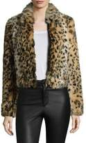 Joe's Jeans Kate Faux Fur Leopard Bomber