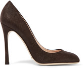 Sergio Rossi Textured-suede pumps
