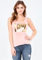 Bebe Gold Foil Love Tank
