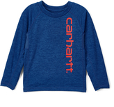 Carhartt Heather Olympian Blue Force Logo Tee - Boys