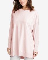 Lauren Ralph Lauren Petite Twill-Front Sweater