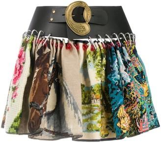 Chopova Lowena Leather Belt Mini Skirt