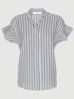 Frame Silk Flounce Short Sleeve