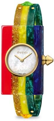 Gucci Rainbow Plexiglas Watch