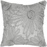 """Rizzy Home Floral Decorative Throw Pillow, 18 x 18"""", Gray"""