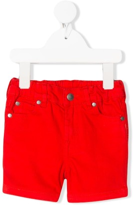 Stella Mccartney Kids Rainbow Smile Denim Shorts