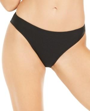 Hula Honey Juniors' Rhythm Rib Solid Hipster Bikini Bottoms, Created for Macy's Women's Swimsuit