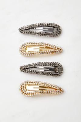 Urban Outfitters Diamante Hair Clip Set - Assorted ALL at