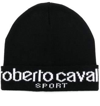 Roberto Cavalli embroidered logo beanie