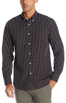 Dockers Long Sleeve Tonal Grid Cvc Woven Shirt