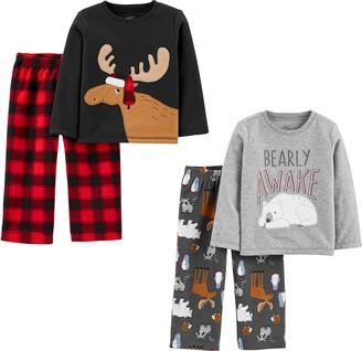 Simple Joys by Carter's 4-piece Pajama Set (Poly Top & Fleece Bottom)