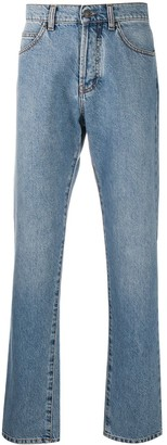 MSGM Heart Embroidery Loose-Fit Jeans