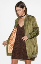 KENDALL + KYLIE Kendall & Kylie Satin Longline Bomber Jacket