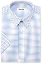Pierre Cardin Blue Check Short Sleeve Dress Shirt
