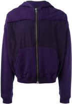 Haider Ackermann patch-detail hooded sweater - men - Cotton/Rayon - S