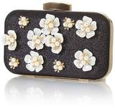 Yumi Embellished 3D flower clutch bag