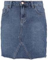 Dorothy Perkins RAW HEM Denim skirt blue denim
