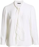 Lafayette 148 New York Lafayette 148 New York, Plus Size Bates Neck-Tie Silk Blouse