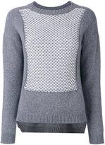Edamame London - textured bib front jumper - women - Cashmere/Wool - 1