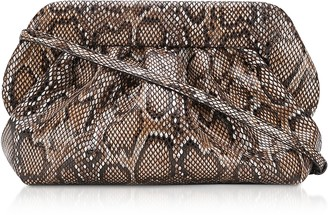 Themoiré Dark Python Printed Eco Leather Pouch Bag