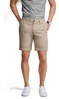 "Lands' End Men's Classic Fit 6"" Plain Front Casual Chino Shorts-Sisal"
