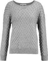 Autumn Cashmere Quilted textured-knit sweater