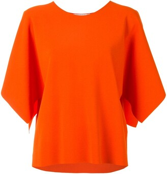 Stella McCartney Draped Short-Sleeve Blouse