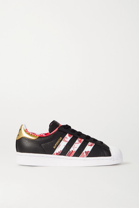 adidas Superstar Printed Textured-leather Sneakers