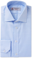 Turnbull & Asser Blue Slim-Fit Checked Cotton Shirt