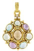 Judith Ripka 18K Diamond & Multistone Pendant