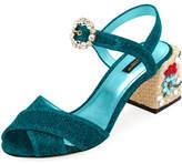 Dolce & Gabbana Glitter Embellished 60mm Sandal