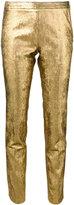 Nude lamé skinny pants - women - Polyamide/Polyester/Spandex/Elastane - 40