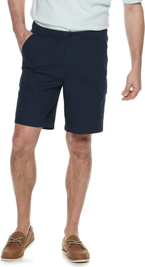 7509fb1582 Men Blue Linen Cargo Shorts - ShopStyle