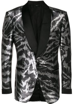 Tom Ford Metallic Zebra Blazer