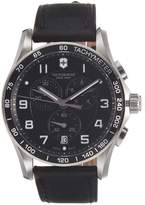 Victorinox Men's Chrono Classic XLS Black Leather Strap Watch