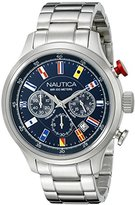 Nautica Men's NAD17516G NCT 16 FLAGS Analog Display Quartz Blue Watch
