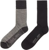 Levi's 2 Pack Of Striped Trainer Sock