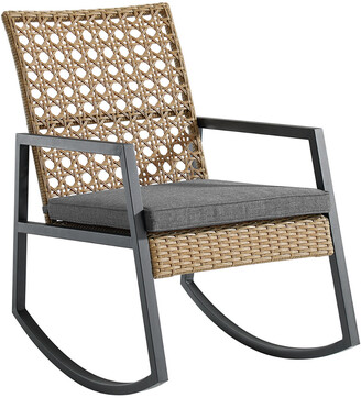 Hewson Modern Patio Rattan Rocking Chair