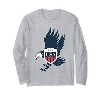 American Eagle USA Flag Great Gift Long Sleeve T-Shirt
