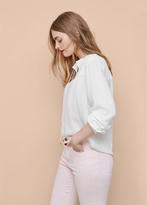 Violeta BY MANGO Panel Flowy Blouse