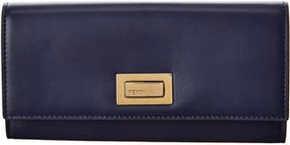 Fendi Peekaboo Leather Continental Wallet