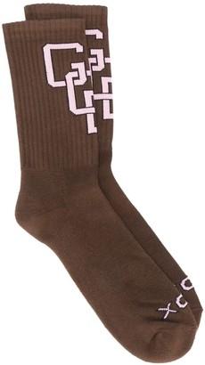 GCDS Contrast Logo Socks