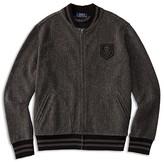 Ralph Lauren Boys' French Terry Herringbone Baseball Jacket - Sizes S-XL