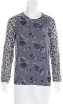 Equipment Cashmere Floral Print Sweater