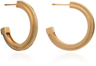 Rachel Jackson London Large Art Deco Stepped Hoops Gold