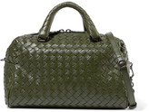 Bottega Veneta Boston Mini Intrecciato Leather Tote - Green