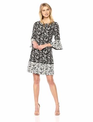 Jessica Howard JessicaHoward Women's Printed Bell Sleeve Dress