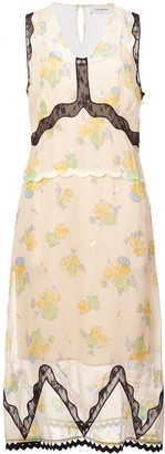 Coach Forest Floral Print Sleeveless Dress