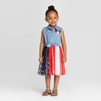 Minnie Mouse Toddler Girls' Disney Sleeveless Americana Tutu Dress -